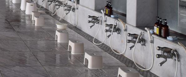 洗い場掃除